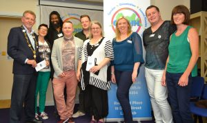 Cllr Michael Sheehan, Limerick Mayor with the GOSHH Team at the official launch